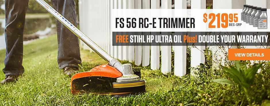 Free HP Ultra Oil with FS 56 RC-E Trimmer purchase!